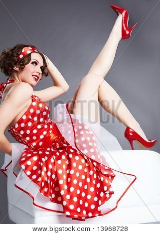 Pin-up girl. American style poster