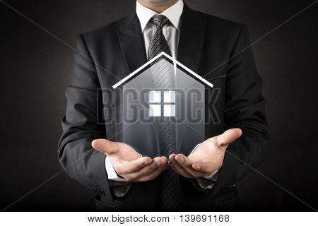 House protection concept high quality  studio shot