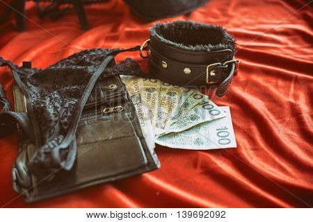 Concept Of Sex Tourism, Bdsm Or Prostitute Theme