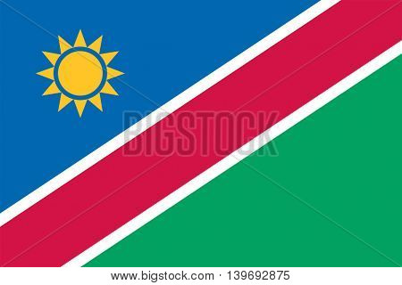 Vector Republic of Namibia flag