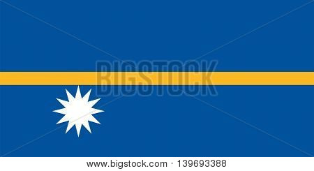 Vector Republic of Nauru flag