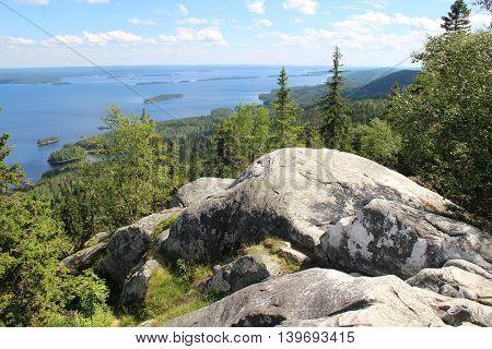Beautiful nature of national park Koli Finland