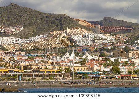 People Enjoying Vacation At Tenerife Island In Spain