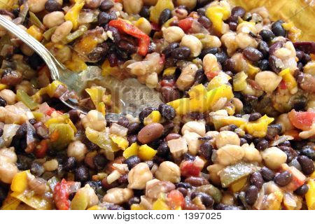 Auntie Judy's bean salad on a hot day in the summer. poster