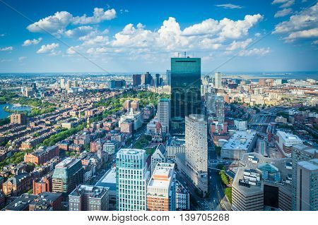 View Of Modern Buildings In Back Bay, In Boston, Massachusetts.
