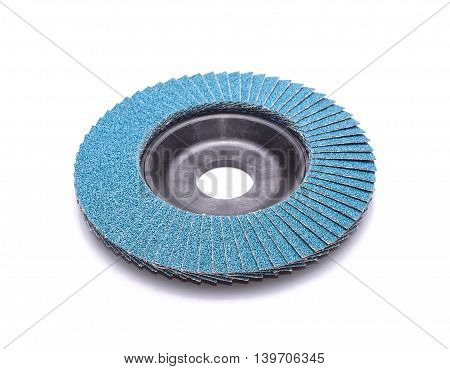 Abrasive wheels isolated on white background in studio