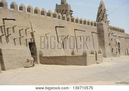 Mosque of Timbuktu in northern Mali in Africa