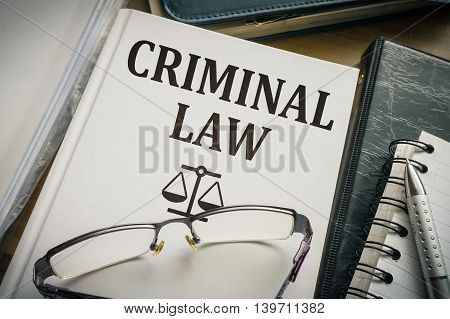 Criminal Law Book. Legislation And Justice Concept.