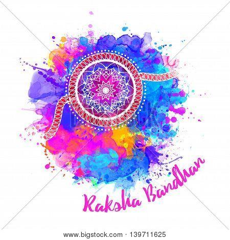 Raksha Bhandhan invitation cards with lace ornament. Brother and sister festival in India. Is also called Rakhi Purnima religious festival, Happy Raksha Bandhan celebration