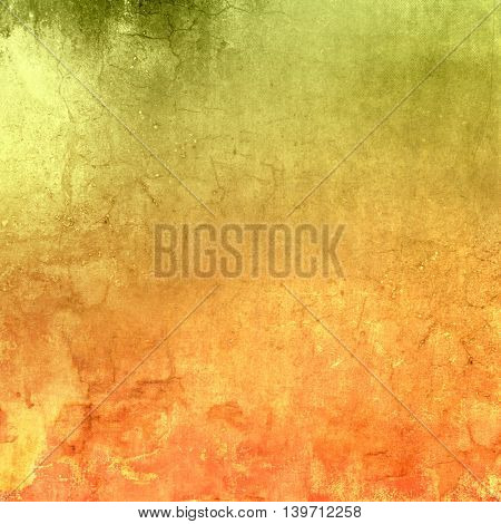 Green orange background gradient with grunge texture - abstract fall colors