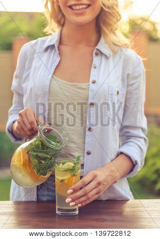 Young Girl With Lemonade