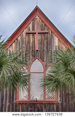 Church of the Cross in Old Town Blufton,SC, Beautiful Old wooden structure on the banks of the May River.  The Church of the Cross is a historic Episcopal Church on Calhoun Street in Blufton, SC.  It was built in 1875