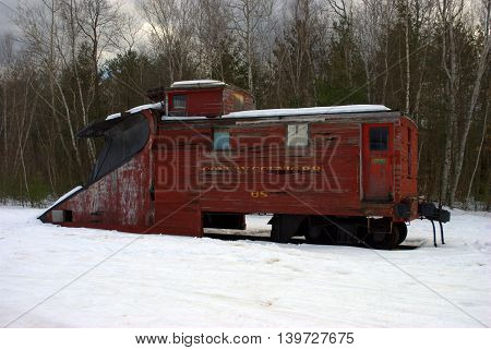 Antique Railway Snow Plow North Conway New Hampshire USA