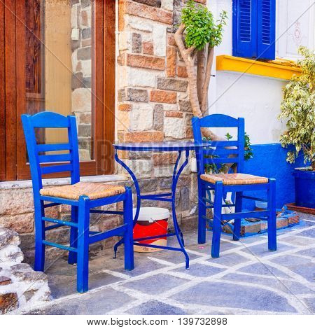 Colors of Greece series - cute bars and tavernas