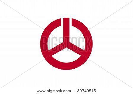 Japan Fukushima prefecture Koriyama city flag illustration