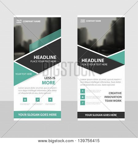 Green black Business Roll Up Banner flat design template Abstract Geometric banner template Vector illustration set abstract presentation brochure flyer template vertical template vector
