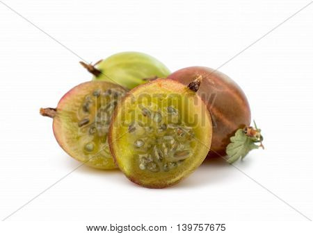 gooseberries mellow, fruit on a white background