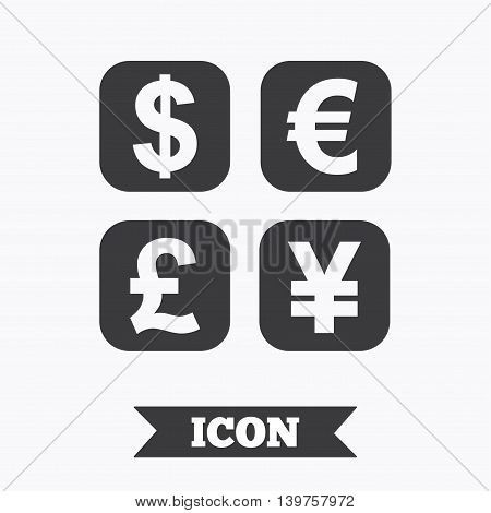 Currency exchange sign icon. Currency converter symbol. Money label. Graphic design element. Flat currency exchange symbol on white background. Vector