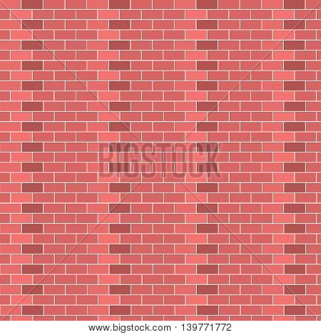 Background of brick wall texture vector. Brown cement texture brick wall old architecture block concrete. Red brick wall material stone vintage block concrete surface wall vector pattern.
