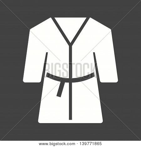 Robe, white, bath icon vector image.Can also be used for spa. Suitable for mobile apps, web apps and print media.