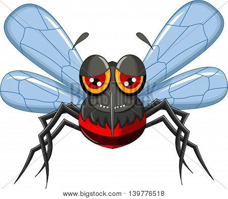 cute cartoon mosquito flying for you design