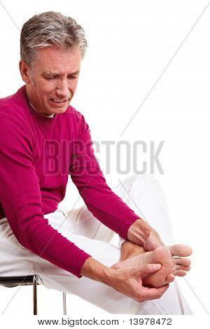 Senior Man With Foot Pain