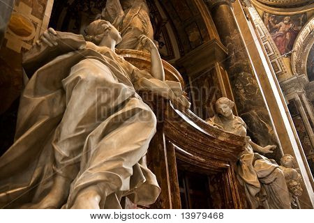 St. Peter's Cathedral interior in Vaticanþ Italy.