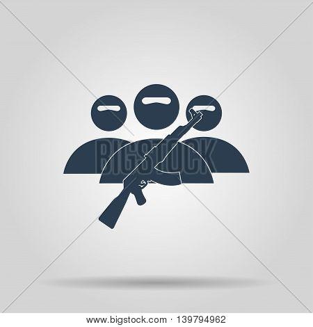 Terrorist Icon. Vector Concept Illustration For Design