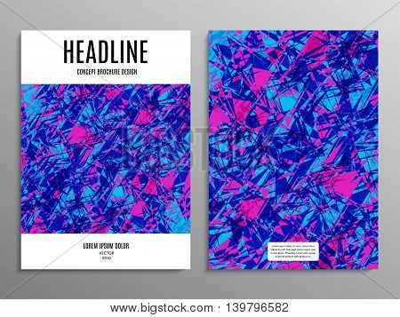business brochure template or layout design flyer in A4 size with abstract multicolored background. stock vector illustration eps10