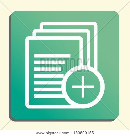 Files Add Icon In Vector Format. Premium Quality Files Add Symbol. Web Graphic Files Add Sign On Gre