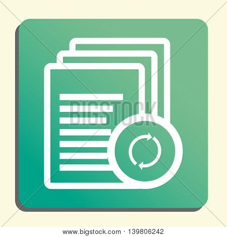 Files Refresh Icon In Vector Format. Premium Quality Files Refresh Symbol. Web Graphic Files Refresh