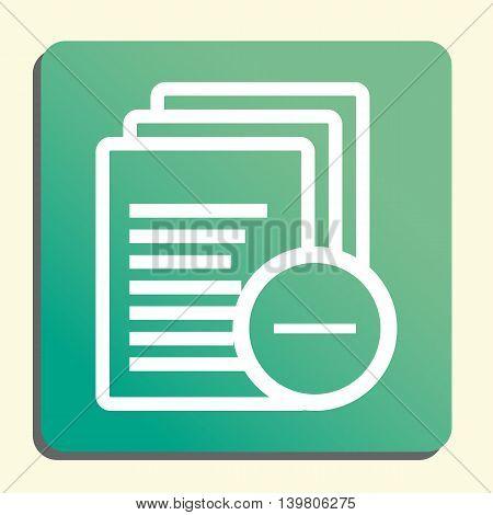 Files Remove Icon In Vector Format. Premium Quality Files Remove Symbol. Web Graphic Files Remove Si