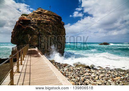 Playa De Roque De Las Bodegas With Giant Rock