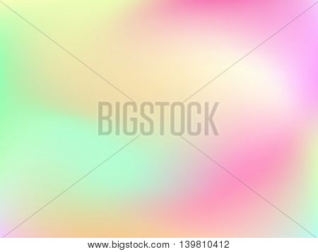 Abstract horizontal blur gradient background with trend pastel pink, pale, green, yellow, cyan and blue colors for deign concepts, web, presentations and prints. Vector illustration.