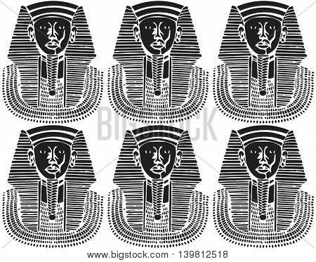 Egypt Pharaoh silhouette pattern . Vector illustration