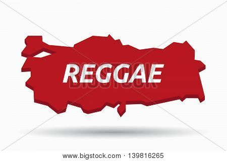 Isolated Turkey Map With    The Text Reggae