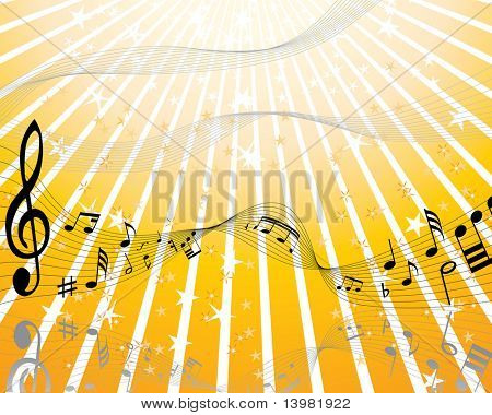 Celebration music party theme with stars. Vector illustration. poster