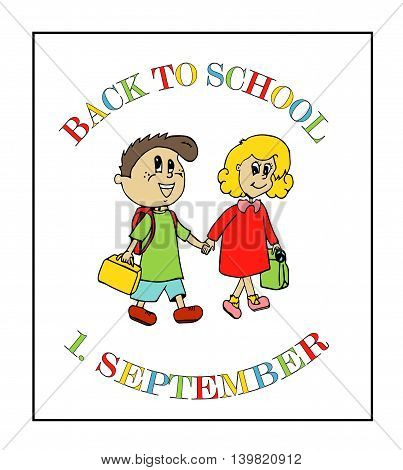 Back to school background with 1. september