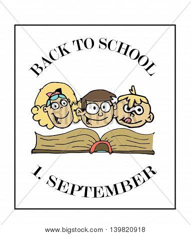 Back to school background and 1. september