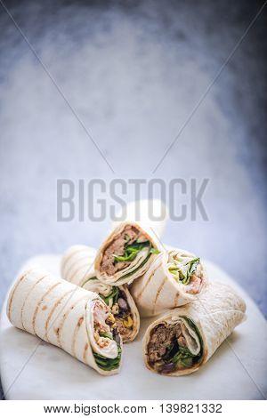 Healthy Brunch Idea, Tortilla Wraps