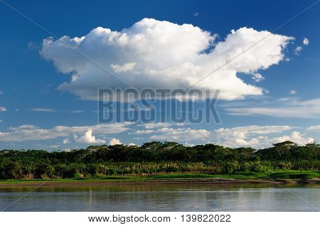 South America Amazonas landscape. The photo present Amazon river Brazil