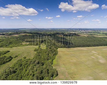 Limestone Rocks Located On The Polish Jura. Country. South Poland