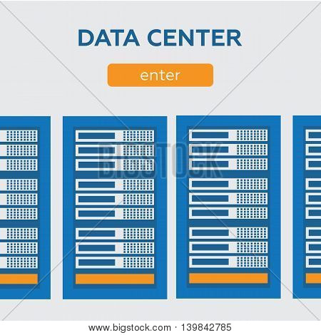 Data center and hosting banners set eps 10