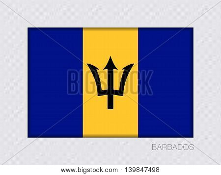 Flag Of Barbados. Rectangular Official Flag With Proportion 2:3