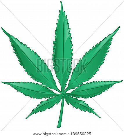 fun marijuana cartoon isolated on white background