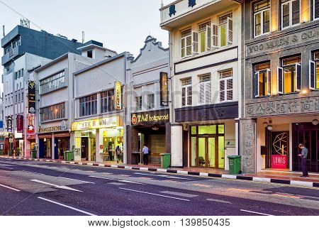 Shop Houses In South Bridge Road In Singapore Chinatown