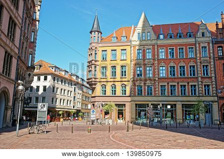 Book Shop On The Market Square In Hanover In Germany
