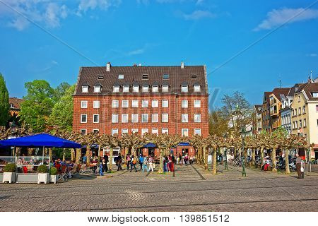 Old City Center In Dusseldorf In Germany