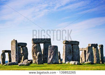 Stonehenge In Wiltshire Of Great Britain