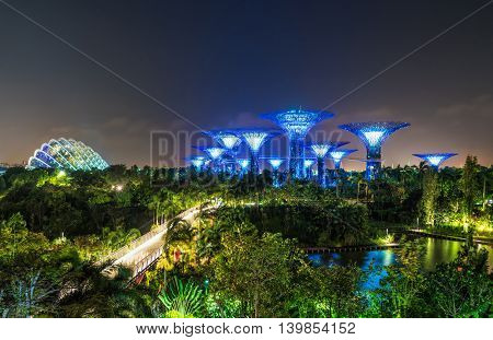 Supertree Grove In Gardens By The Bay In Singapore Center